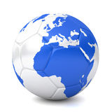 3d soccer globe - europe, africa. 3d rendered soccer globe - europe, africa -  on white background Stock Photos