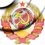 Soviet Union coat of arms 1923-1936. 3d Rendered Soviet Union coat of arms 1923-1936 Royalty Free Stock Images