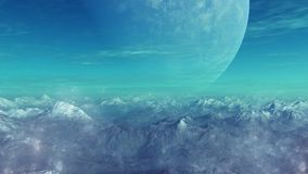 3d rendered Space Art: Alien Planet. A Fantasy Landscape Stock Photos