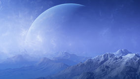 3d rendered Space Art: Alien Planet Stock Photo