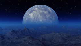 3d rendered Space Art: Alien Planet. A Fantasy Landscape Royalty Free Stock Images