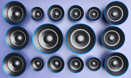 3d rendered speakers Royalty Free Stock Photos