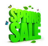 3D Rendered Spring Sale Word  with Clipping Paths. 3D Rendered Spring Word  in White Background with Clipping Paths Royalty Free Stock Photo