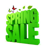 3D Rendered Spring Sale Word  with Clipping Paths Stock Images