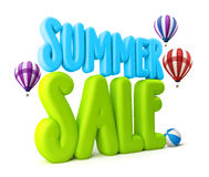 3D Rendered Summer Sale Text Title for Promotion Stock Images