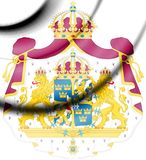 Sweden coat of arms. stock photo