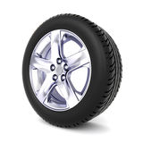 3D tire  on white background Stock Photos