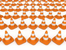 3d rendered traffic cones Stock Images