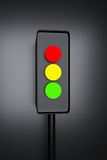 3d rendered traffic signal. In grey background vector illustration