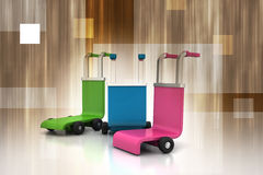 3d rendered trolley Stock Photo