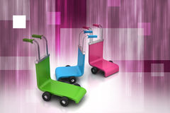 3d rendered trolley Stock Photography