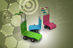 3d rendered trolley Royalty Free Stock Photography