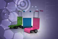 3d rendered trolley Stock Image