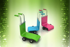 3d rendered trolley Royalty Free Stock Photos