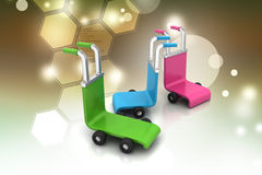 3d rendered trolley Royalty Free Stock Photo