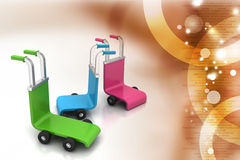 3d rendered trolley Stock Images