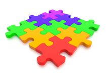 3D rendered  video of a Jigsaw Puzzle Royalty Free Stock Photo