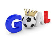 3d rendered word GOAL with soccer ball  isolated on white Stock Photos