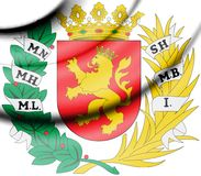 Zaragoza coat of arms, Spain. royalty free stock images