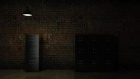 3d renderer image. File cabinet. Search concept. Render 3D Stock Image