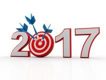 3d rendererbeeld Nieuwjaar 2017 Geïsoleerd op Witte Achtergrond Royalty-vrije Stock Afbeeldingen