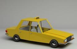 3d rendering śmieszny retro projektujący samochód Zdjęcie Royalty Free