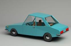 3d rendering śmieszny retro projektujący samochód Fotografia Stock