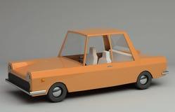 3d rendering śmieszny retro projektujący samochód Obraz Royalty Free