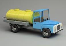 3d rendering śmieszny retro projektujący samochód Zdjęcia Royalty Free