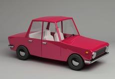 3d rendering śmieszny retro projektujący samochód Zdjęcie Stock