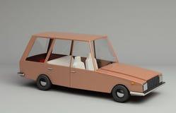3d rendering śmieszny retro projektujący samochód Obraz Stock