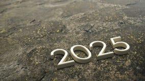 2025 3d rendering ilustracja wektor