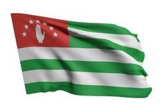 Abkhazia flag waving. 3d rendering of Abkhazia flag waving on white background Stock Illustration