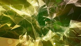 3D rendering abstract background on the basis of Plexus. Technological surfaces are intertwined in a futuristic geometric and scie. Ntific background. Plexus Stock Images