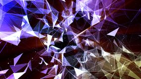 3D rendering abstract background on the basis of Plexus. Technological surfaces are intertwined in a futuristic geometric and scie. Ntific background. Plexus Stock Image