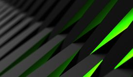3D Rendering Of Abstract Background. 3D Rendering Of Black And Green Abstract Background Royalty Free Stock Photography