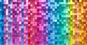 3D rendering abstract background colorful cubes wall.  vector illustration