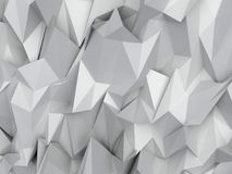 3D abstract background. Illustration of geometric stones. 3D rendering abstract background. Illustration of gray geometric stones Royalty Free Stock Images