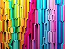 3D rendering abstract background of multi-colored lines shapes Stock Images