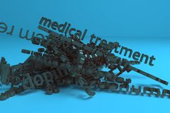 3D rendering. Abstract CGI typography, health, allergy keywords cloud. Wallpaper for graphic design. 3D rendering. CGI typography, health, allergy keywords vector illustration
