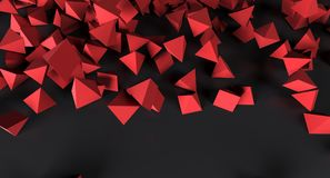 Abstract Chaotic Pyramids Background. 3D Rendering Of Abstract Chaotic Pyramids Background Royalty Free Stock Photo