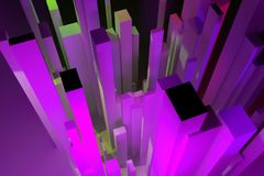 3D rendering. Abstract colorful lighting, pillar block or shapre. Wallpaper for graphic design. Colorful lighting, pillar block or shapre, for design texture or vector illustration