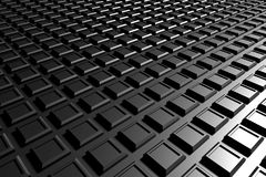 Black concentric squares Royalty Free Stock Photography