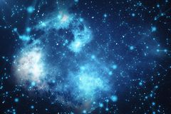 3D Rendering Abstract Connected Dots With Lines. Technology Concept Background With Stars and Nebula.  Stock Images