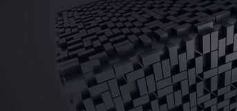 Abstract Cube Background With Lots Of Rectangles. 3D Rendering Of Abstract Cube Background With Lots Of Rectangles Royalty Free Stock Photo