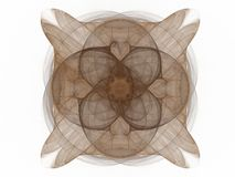 3D rendering with abstract fractal brown pattern.  Vector Illustration