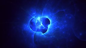 3D rendering abstract fractal light background. And graphic resources for Photoshop overlay Royalty Free Stock Images