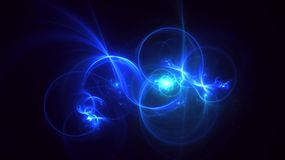 3D rendering abstract fractal light background Stock Photo