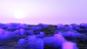 Abstract glow waves. 3d rendering of the abstract glow waves stock video footage