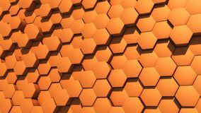Abstract hexagon geometry background Royalty Free Stock Image